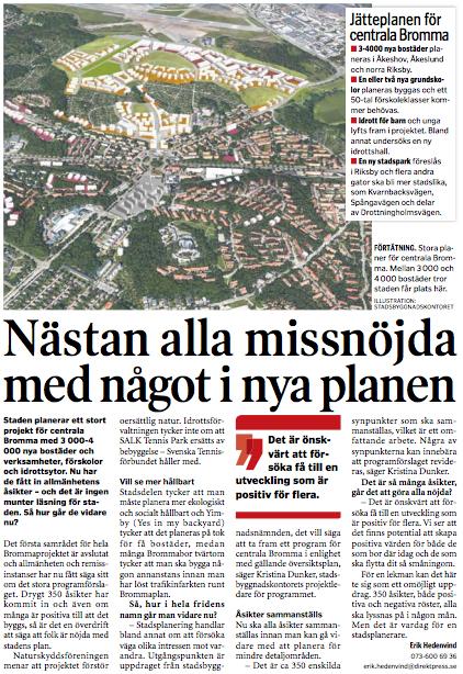 "Utdrag ur ""Bromma tidning"", nr 17, 2016."