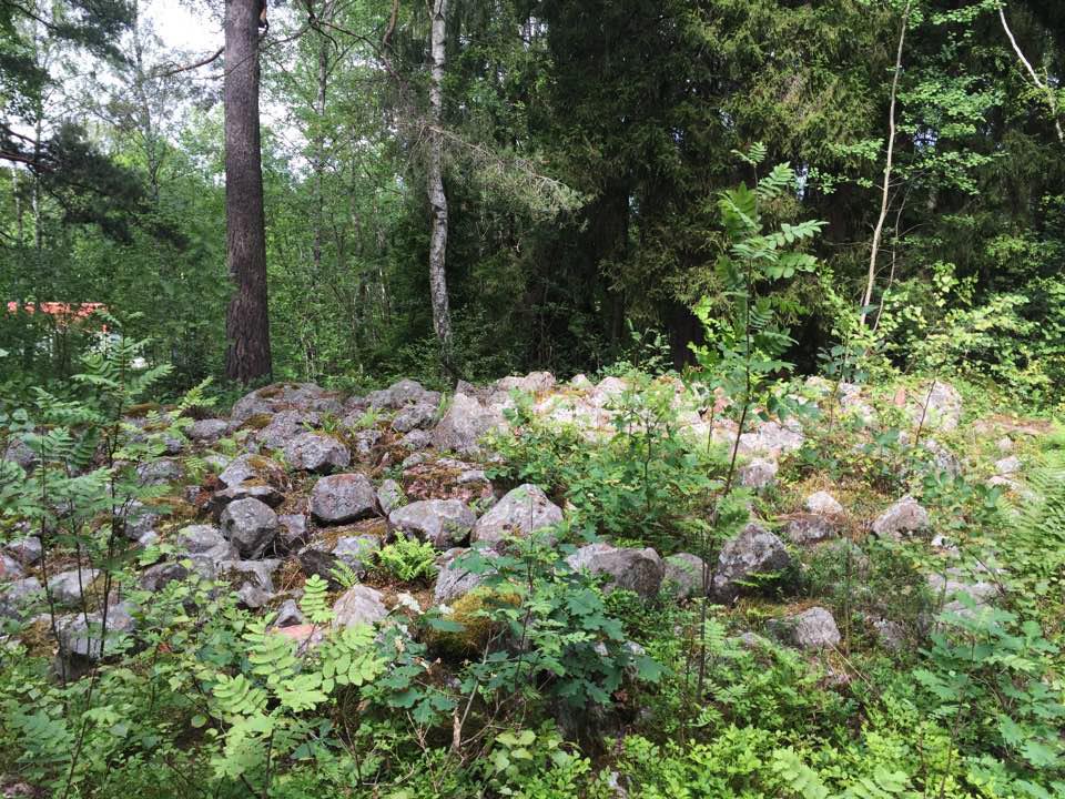 Gravsättning kolonirädgårdsområde invid Bromma flygplats