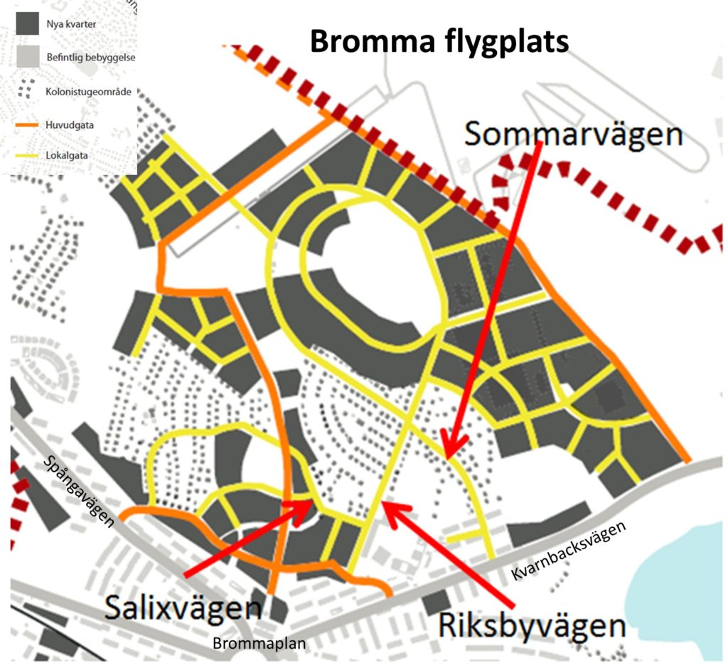 Fotomontage: Mikael Ljung. Bilden är hämtad från Stadsbyggnadskontorets programförslag.